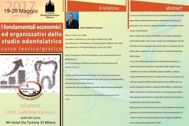 I fondamentali economici ed organizzativi dello studio odontoiatrico